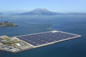 Kyocera floats mega solar power plant in Japan. Image courtesy of Kyocera